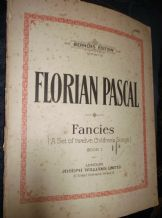 RARE ANTIQUE SHEET MUSIC 1911 FLORIAN PASCAL FANCIES 12 CHILDRENS SONGS BK 1
